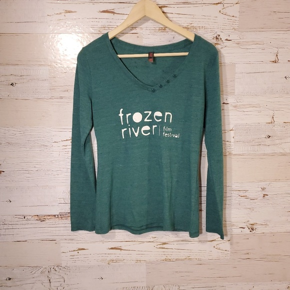District Made Tops - Frozen River Film Festival long sleeve tee